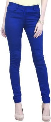 Haltung Slim Fit Women's Blue Trousers