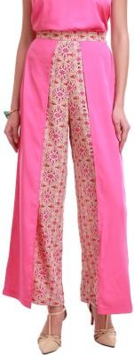 Sassafras Regular Fit Women,s Pink Trousers