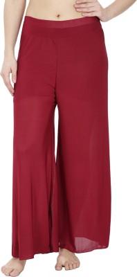 Secret Wish Regular Fit Women's Maroon Trousers