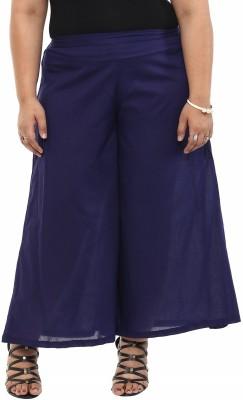 kira plus Regular Fit Women's Dark Blue Trousers
