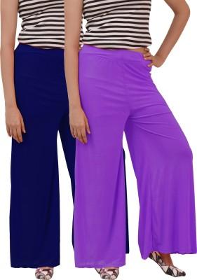 Ace Regular Fit Women's Purple, Blue Trousers