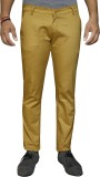 Oiin Slim Fit Men's Yellow Trousers