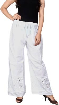 LYSTOCK Regular Fit Women's White Trousers