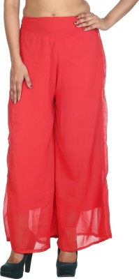 Rajrang Regular Fit Women's Red Trousers at flipkart