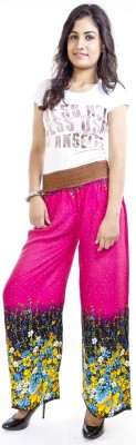 Cotton Flake Regular Fit Women's Pink Trousers