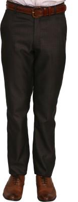 Bellavita Regular Fit Men's Maroon Trousers