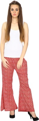 ETHNIC Regular Fit Women's Red Trousers
