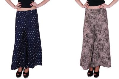 Dee Fashion House Regular Fit Women's Blue, Beige Trousers