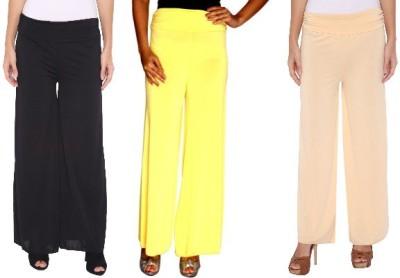 Zadine Regular Fit Women,s Black, Yellow, Beige Trousers