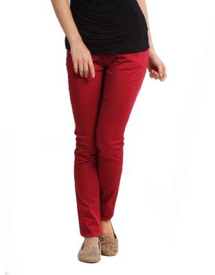 Altamoss Regular Fit Women's Red Trousers