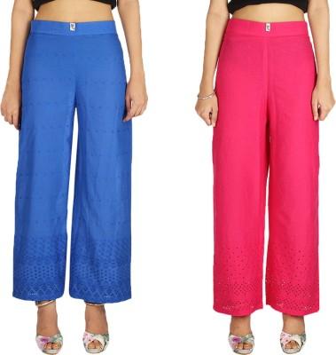 Quetzal Regular Fit Women's Red, Blue Trousers