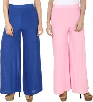 Komal Trading Co Regular Fit Women's Blue, Pink Trousers
