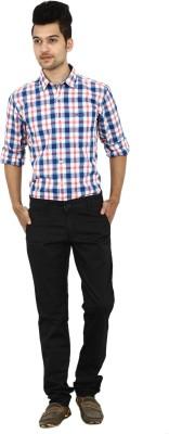 Carbon Slim Fit Men's Black Trousers