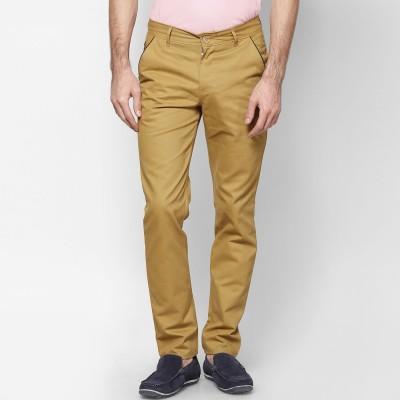 Haute Couture Slim Fit Men's Beige Trousers