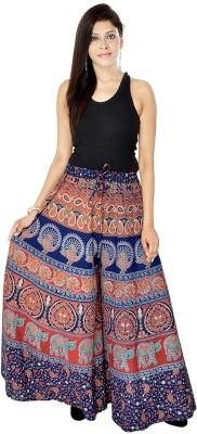 Jaipuri Bandhej Regular Fit Women's Blue, Red Trousers