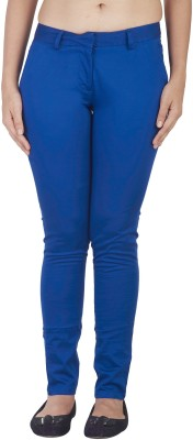 Soie Slim Fit Women's Dark Blue Trousers at flipkart