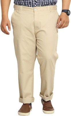 John Pride Regular Fit Men's Beige Trousers
