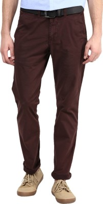 Indian MAD Slim Fit Men's Brown Trousers