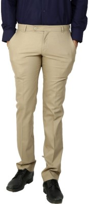 Follow Up Regular Fit Men's Beige Trousers