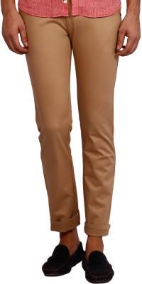 Volume Zero Slim Fit Men's Brown Trousers