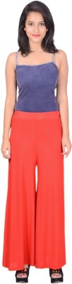 capy Regular Fit Women's Red Trousers