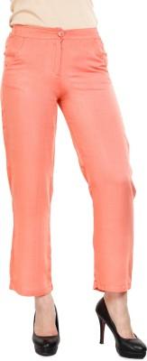 Mustard Regular Fit Women's Orange Trousers