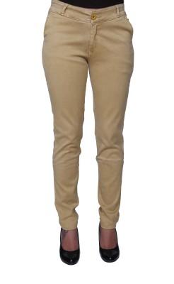 Divaline Slim Fit Women's Beige Trousers