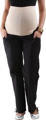 Kriti Western Maternity Regular Fit Women's Black Trousers
