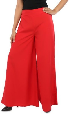 Navyou Regular Fit Women's Red Trousers