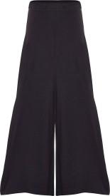 Sera Regular Fit Girls Black Trousers