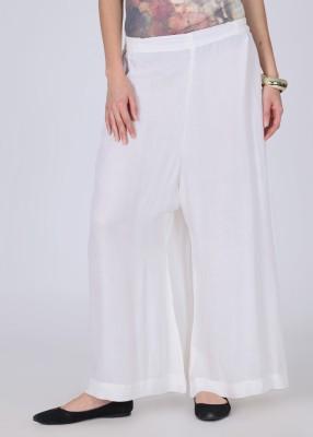 Nikhaar Women's White Trousers