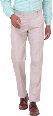 Matrix Slim Fit Men's Beige Trousers