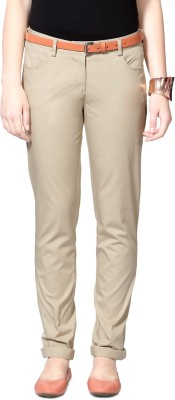 Allen Solly Skinny Fit Women,s Beige Trousers