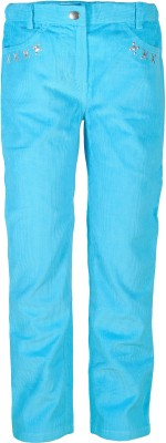 Caca Cina Regular Fit Girl's Light Blue Trousers