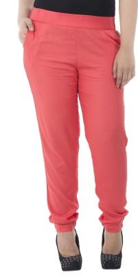 LastInch Regular Fit Women's Red Trousers