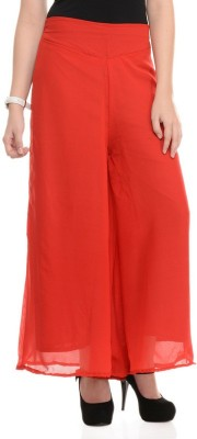 shreya Regular Fit Women's Red Trousers