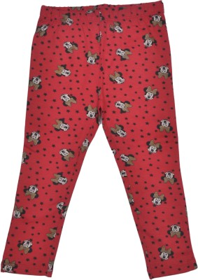Bio Kid Slim Fit Baby Girl's Red Trousers