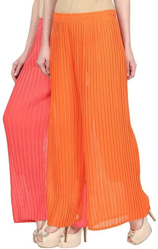 SYS Regular Fit Women's Pink, Orange Trousers