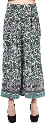 Oxolloxo Regular Fit Women,s Green Trousers