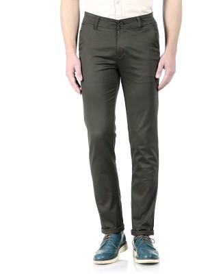 Flyjohn Slim Fit Men's Dark Green Trousers