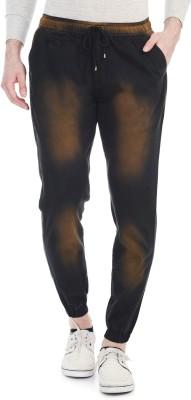 Blimey Slim Fit Men's Black, Orange Trousers