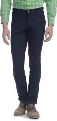 Srota Slim Fit Men's Blue Trousers