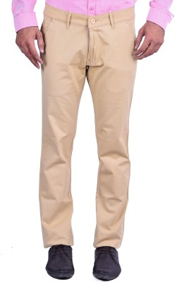 Cortos Regular Fit Men's Beige Trousers