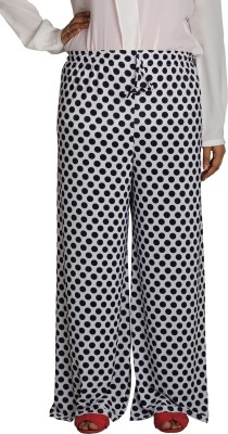 Shahfali Regular Fit Womens White Trousers