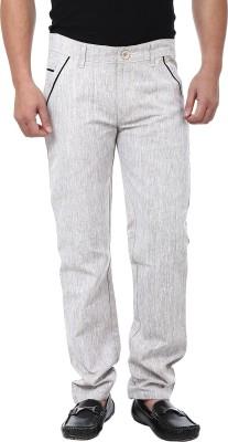 Adhaans Slim Fit Men's Brown Trousers