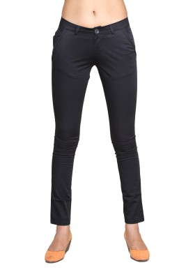 A n, e Slim Fit Women's Black Trousers