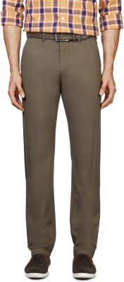 Van Heusen Slim Fit Men's Dark Green Trousers