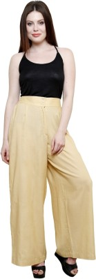 Pistaa Regular Fit Women's Beige Trousers