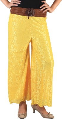 indian street fashion Regular Fit Women,s Yellow Trousers