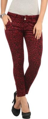 Lotus Skinny Fit Women's Maroon Trousers